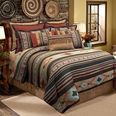 The quality veratex santa fe comforter set is constructed from smooth polyester and soft cotton backing luxury bedding with burlap, 25 best rustic Southwestern Bedding, Southwest Decor, Southwest Style, Southwest Bedroom, Southwestern Decorating, Santa Fe, Bedroom Comforter Sets, Queen Comforter Sets, Western Comforter Sets