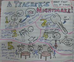 I keep a notebook too, and Mr. Stick is quite the star of my notebook.  Here's a teacher model for a new lesson we launched in 2016 about the worst school picture day ever: http://corbettharrison.com/free_lessons/Bedhead.htm