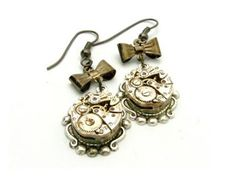 Steampunk Jewelry Earrings   think one of the most unique Etsy jewelry artists I have come across ...