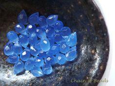Light Blue Quartz Top Drilled Briolette  10mm x by chainofbeads