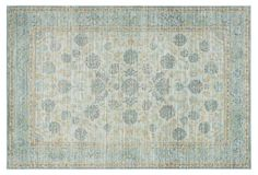 5'x8' Bingley Rug, Light Blue/Turquoise