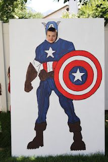 "Super Hero! Have a fun cut out at your Relay for Life team ""camp"" as a fun way to get your team noticed!"