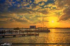 Boat Dock Indian River Lagoon Vero Beach Florida Indian River Co