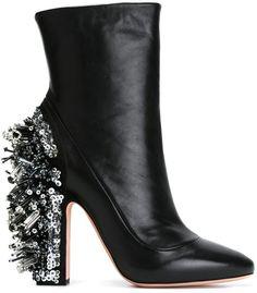 Rochas embellished heel boots  <>   @kimludcom