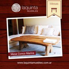 Mesa baja de living, en madera de castaño
