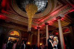 I think this is an amazing photo - by Elemental Weddings at Stefanie and Steven's Wedding, venue The George Hotel Edinburgh