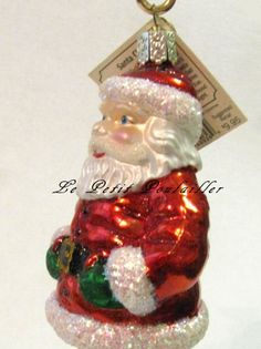 Merck Family Old World Christmas 'Santa Claus'  retired blown glass ornament ... in my shop now!