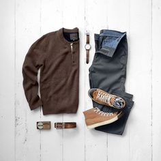 Men's casual fashion, sweater, chino and sneakers #sneakers #mensfashion #menstyle