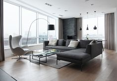 View the full picture gallery of Graphite Box Apartment Interior, Home Living Room, Interior Design Living Room, Living Room Designs, Living Room Decor, Casa Top, Muebles Living, Living Room Inspiration, Luxury Living