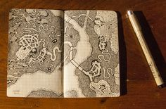 My little book of dungeon maps map cartography | Create your own roleplaying game material w/ RPG Bard: www.rpgbard.com | Writing inspiration for Dungeons and Dragons DND D&D Pathfinder PFRPG Warhammer 40k Star Wars Shadowrun Call of Cthulhu Lord of the Rings LoTR + d20 fantasy science fiction scifi horror design | Not Trusty Sword art: click artwork for source