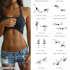 The Best Bodybuilding Workouts Program: Exercise Workout Routine To Lose Weight Abs Workout Video, Abs Workout Routines, Aerobics Workout, Aerobic Exercises, Tummy Exercises, Training Exercises, Belly Pooch Workout, Tummy Workout, Fat Workout