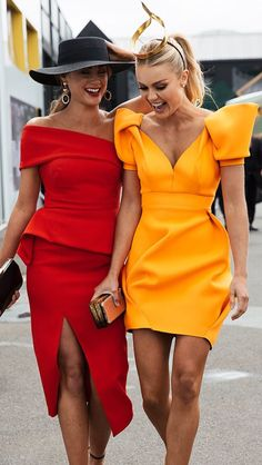 I like the red dress so classy Elegant Dresses, Cute Dresses, Beautiful Dresses, Short Dresses, Cute Outfits, Mori Fashion, Fashion Dresses, Womens Fashion, Yellow Dress