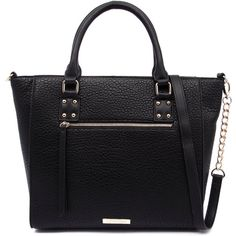 Kardashian Kollection 3493 Black Tote (87 CAD) ❤ liked on Polyvore featuring bags, handbags, tote bags, kardashian kollection purses, black tote, kardashian kollection handbags, zip top tote bag and black sling purse