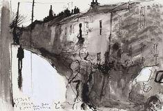Kurt Jackson St Just - West Cornwall Kurt Jackson, Pen And Wash, Ink Wash, Landscape Art, Landscape Paintings, Landscape Drawings, Landscapes, St Just, West Cornwall