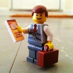 Look at this cute little brother in service legoman !!