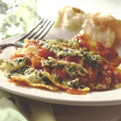 Main Course: This Ravioli Lasagna entrée makes having a classic Italian favorite very easy and very delicious. #Buitoni