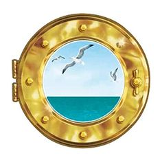 Ship Porthole Decoration Cling * You can find more details by visiting the image link.