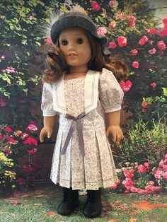 1920's Dress With Felted Hat fits American girl dolls by Bekysdollclothes on Etsy