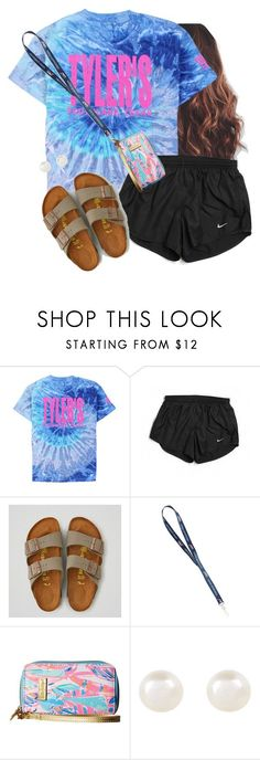 """""""Going to support my bff at a cheer fundraiser"""" by aweaver-2 on Polyvore featuring NIKE, American Eagle Outfitters, Lilly Pulitzer and Accessorize"""
