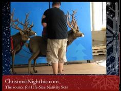 ▶ Here Comes Santa Claus, His Sleigh & Reindeer, Sled and Huskies - Life Size Christmas Display - Here's a look at some other amazing displays available at Christmas Night Inc.
