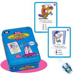 100 Irregular Past Tense Verbs Fun Deck Cards with Secret Decoder - Super Duper Educational Learning Toy for Kids Super Duper® Publications http://www.amazon.com/dp/158650777X/ref=cm_sw_r_pi_dp_TYiItb1483AGZGK3