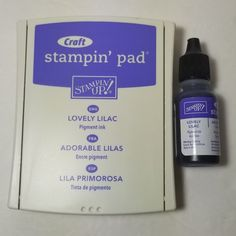 Stampin' Up! Pigment ink needs more time to dry or heat set - great for embossing! some separation of glycerine from ink is possible - just remix in pad with ink refill. Martha Stewart Crafts, Pigment Ink, My Ebay, Lilac, Stampin Up, Finding Yourself, Card Making, How To Make, Syringa Vulgaris