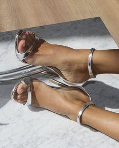 Womens Silver Heels, Metallic Heels, Silver Shoes, Pumps, Stilettos, Stiletto Heels, Strappy High Heels, Sexy Legs And Heels, Hot Heels