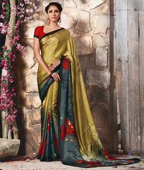 Mehendi Green Color Crepe Casual Function Sarees : Karnika Collection  YF-40722