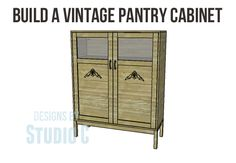Build a Vintage Pantry Cabinet - an easy build that can be finished in a variety of ways for that fabulous WOW factor!