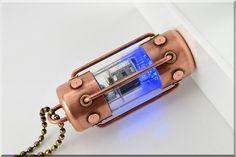 8/16/32/64GB BLUE Arc pentode radio vacuum tube usb flash drive. Steampunk/Industrial !!!FREE shipping!!!