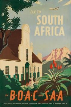 Africa by BOAC and SAA, 1949 - original vintage poster by E O Seymour listed on .ukSouth Africa by BOAC and SAA, 1949 - original vintage poster by E O Seymour listed on . Vintage Advertising Posters, Vintage Travel Posters, Vintage Advertisements, Vintage Airline, Poster Vintage, Ski Posters, Cool Posters, Pub, Grafik Design