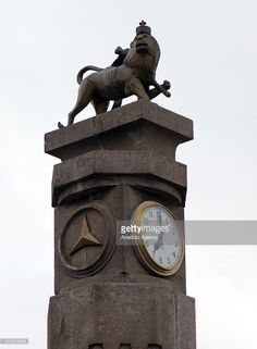 The clock tower at the Miazia 27 square shows the time when Ethiopian. Famous Musicals, Haile Selassie, Horn Of Africa, National Holiday, Early Humans, Addis Ababa, African Nations