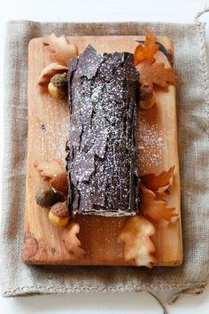 Almond Chocolate Raspberry Buche de Noel