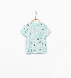 Image 1 of Pineapple and text T-shirt from Zara