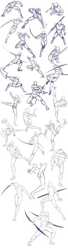 Battle/action poses by Antarija on DeviantArt - Body positions, weapons, fighting, swords; How to Draw Manga/Anime - Drawing Techniques, Drawing Tips, Drawing Sketches, Drawing Ideas, Body Sketches, Contour Drawings, Manga Drawing Tutorials, Sketchbook Drawings, Drawing Drawing