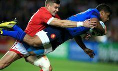 França 41-18 Canadà #RWC2015 #FRA vs #CAN #soutienslexv vs #RedNation / France's Wesley Fofana scores his side's first try. Photograph: Mike Egerton