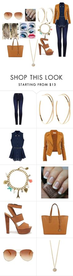 """""""going to my frind"""" by li-directioner ❤ liked on Polyvore featuring 2LUV, Lana, CO, claire's, OPI, Steve Madden, Michael Kors, Tommy Hilfiger and The Limited"""