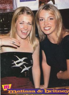 """Melissa Joan Hart and Britney Spears ~ I remember their collaborations: Britney Spears on Sabrina, the Teenage Witch and Melissa Joan Hart in Britney Spears's """"You Drive Me Crazy"""" music video."""