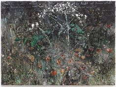 """Exhibition of new works by Anselm Kiefer opens at Galerie Thaddaeus Ropac in Salzburg. """"wohin wit uns wenden im Gewitter der Rosen"""", 280 x 380 cm Anselm Kiefer, Statues, Most Famous Artists, Funny Tattoos, Flower Images, Salzburg, New Words, Texture Art, Art Fair"""