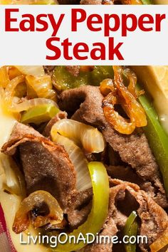 This easy pepper steak recipe makes a tasty home cooked meal! If you don't know how to make pepper steak, you can use this recipe to make it in a crockpot, on a stovetop or in an Instapot and have a restaurant quality meal at only a fraction of the cost! Round Eye Steak Recipes, Leftover Steak Recipes, Crockpot Steak Recipes, Chuck Steak Recipes, Crockpot Recipes, Cooking Recipes, Round Steak, Oxtail Recipes, Cuban Recipes