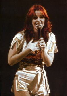 Frida on tour with ABBA