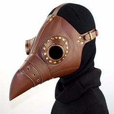 (43.01$)  Buy here  - [SGDOLL] Plague Doctor Mask Bird Beak Steampunk Punk Gothic Halloween Makeup Cosplay Brown Model Mask Toy Collection 17030203