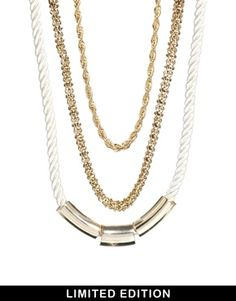 New Look Limited Edition Industrial Three Row Necklace