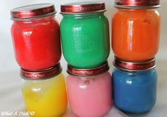 diy (non-toxic & edible) fingerpaint & crayons - perfect for little hands