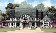 Farmhouse House Plan with 5083 Square Feet and 5 Bedrooms(s) from Dream Home Source   House Plan Code DHSW40056