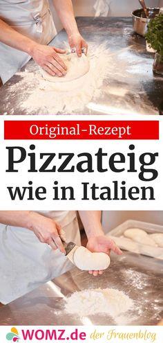 Original italienischer Pizzateig: Rezept aus Neapel – WOMZ – Well come To My Web Site come Here Brom Wheat Pizza Dough, Whole Wheat Pizza, Recipes With Yeast, Pizza Recipes, Italian Pizza Dough Recipe, Sauce Pizza, Italian Dinner Recipes, Good Pizza, Pesto Pasta