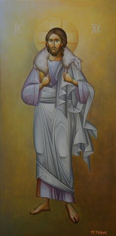 Jesus as the Sheppard rescuing his lost Sheep Religious Images, Religious Icons, Religious Art, Life Of Christ, In Christ Alone, Transfiguration Of Jesus, Roman Church, Pictures Of Jesus Christ, Queer Art