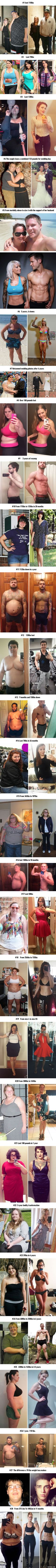 28 Dramatic Weight-Loss Photos Showing What Willpower Can Do