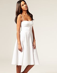 pretty - simple and very pretty bodice with great draping of skirt - crisp, classic white sundress