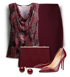 Burgundy Bag by sjlew on Polyvore featuring Coldwater Creek and Lanvin